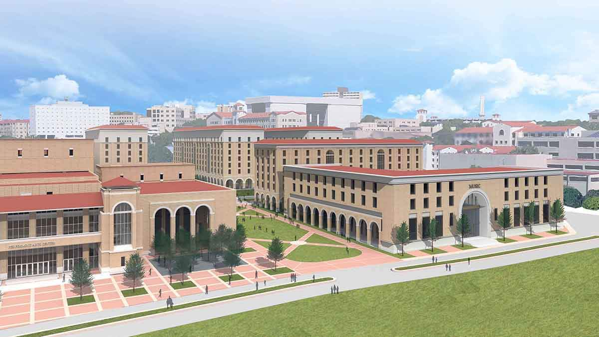Music building rendering
